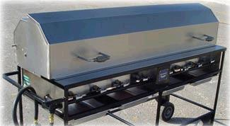 Where to find GRILL, PROPANE, 16  X 66 , HOODED in Cleveland